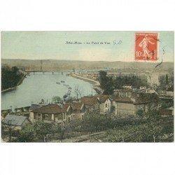 carte postale ancienne K. 91 ATHIS-MONS. Le Point de Vue 1911 carte toilée
