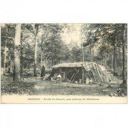carte postale ancienne K. 91 BRUNOY. Cabane de Bûcheron Forêt de Sénart 1913. Impeccable