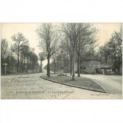 carte postale ancienne K. 91 BRUNOY. La Croix de Villeroy vers 1912