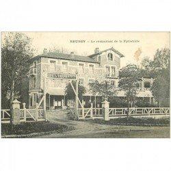 carte postale ancienne K. 91 BRUNOY. Restaurant de la Pyramide