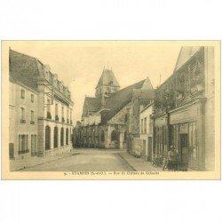 carte postale ancienne K. 91 ETAMPES. Rue du Château de Guinette animation devant l'Estaminet
