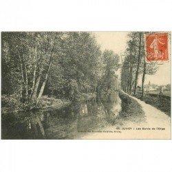 carte postale ancienne K. 91 JUVISY SUR ORGE. Les Bords de l'Orge 1917. Impeccable