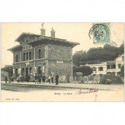 carte postale ancienne K. 91 ORSAY. La Gare 1904