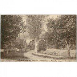 carte postale ancienne K. 91 ORSAY. Le Viaduc du Chemin de Fer