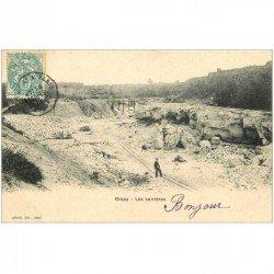 carte postale ancienne K. 91 ORSAY. Les Carrières à Grès 1904