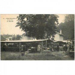 carte postale ancienne K. 91 RIS ORANGIS. Le Marché 1930