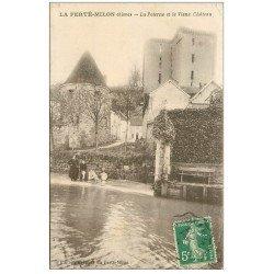 carte postale ancienne 02 LA FERTE-MILON. Poterne et Château 1914