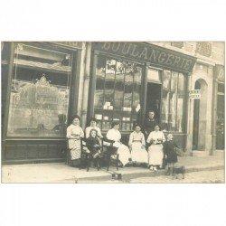 93 AUBERVILLIERS. Boulangerie Jonchery. Rare Carte Postale Photo 14 Boulevard de Stains
