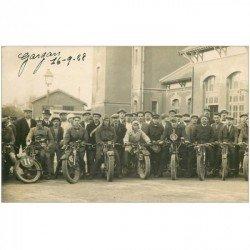 93 GARGAN LIVRY. Départ Course de Motocyclettes. Photo Carte Postale 1928. Sportifs, Coureurs et motos