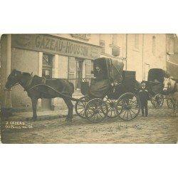 49 LES PONTS DE CE. Attelages devant la Mercerie Epicerie Gazeau Houssin. Photo Carte Postale rare