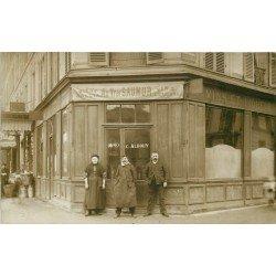 PARIS 14. Café Bistrot Albouy au Vrai Saumur rue Montsouris et Voie Verte vers 1910 Bière Gallia
