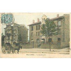 93 PIERREFITTE. Attelage devant la Gendarmerie 1904