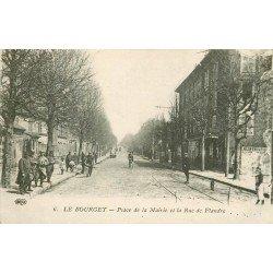 93 LE BOURGET. Militaires Place de la Mairie et rue de Flandre