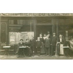 93 SAINT-DENIS. Rare Photo Carte Postale du Café Adam 14 Rue du Chemin Vert