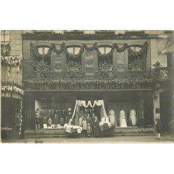 78 SAINT GERMAIN EN LAYE. Photo carte postale du Magasin Au Grand Condé. Chapellerie et Modes