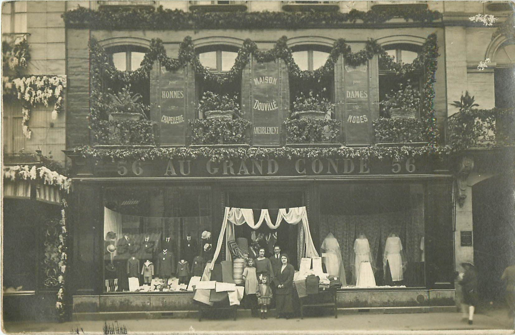 78 SAINT GERMAIN EN LAYE. Photo carte postale du Magasin Au Grand Condé. Chapellerie et Modes