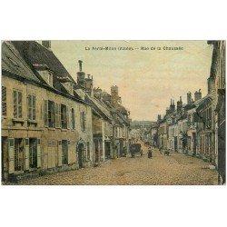 carte postale ancienne 02 LA FERTE-MILON. Rue de la Chaussée 1906. Carte toilée
