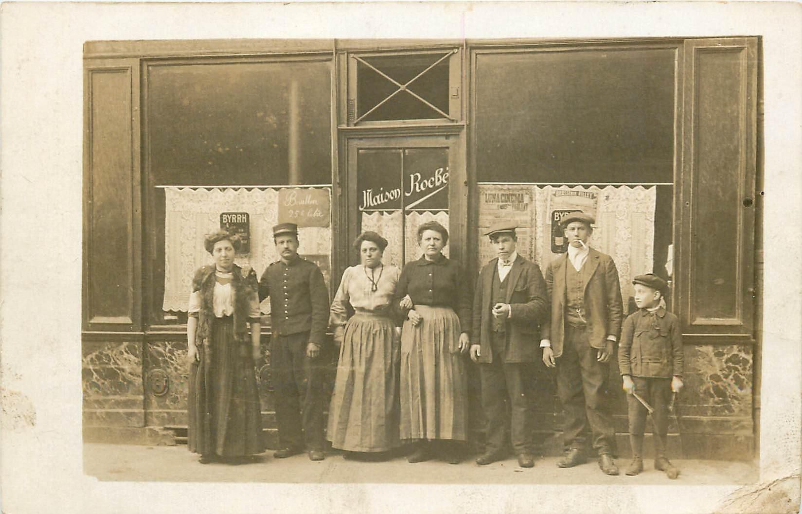 PARIS XI. Café Bistrot Roché 5 Passage Thieré. Photo carte postale Photographe Cibiel rue de Lappe