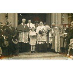 68 MULHOUSE DORNACH. Une Sortie d'Eglise avec Evêque et Pope. Carte postale photo de Georges Braun