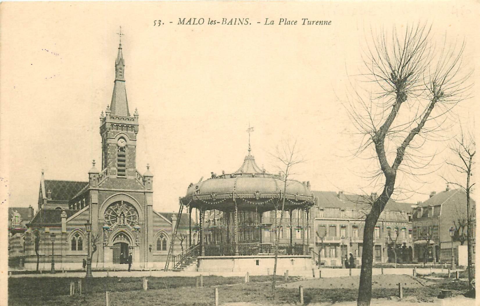 59 MALO LES BAINS. Le Kiosque à musique Place Turenne 1916