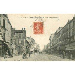 93 MONTREUIL-SOUS-BOIS. La Rue de Paris 1910 commerce de sabots et magasin à l'Exactitude