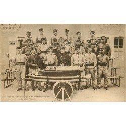 21 SELONGEY. La Compagnie de Sapeurs Pompiers avec leur Moto Pompe et le Clairon