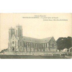 NOUVELLE CALEDONIE. Grande Eglise de Nouméa. Plan collé au verso