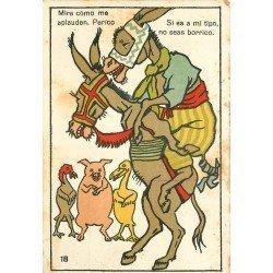 ANIMAUX. Anes et Anesses. Carte humoristique Borrico