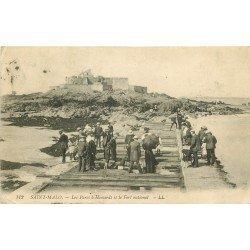 35 SAINT MALO. Les Parcs à Homards et Fort national 1913. Métiers de la Mer