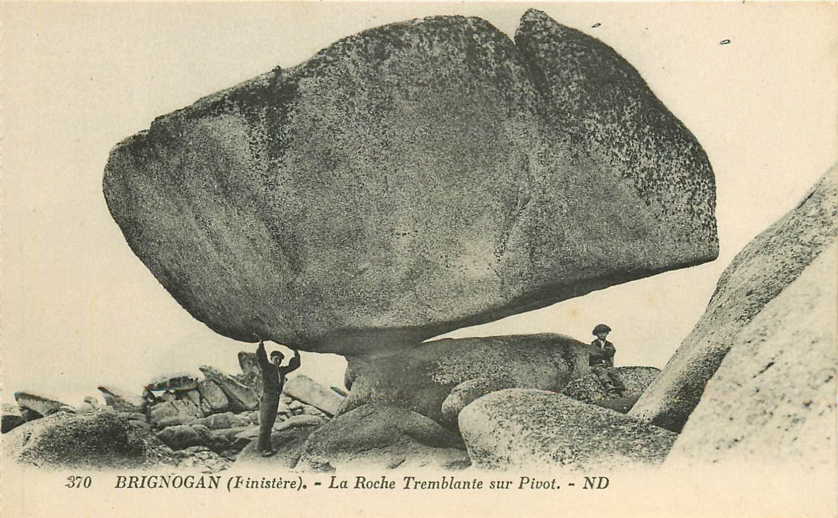 29 BRIGNOGAN. La Roche Tremblante sur Pivot. Dolmens et Menhirs