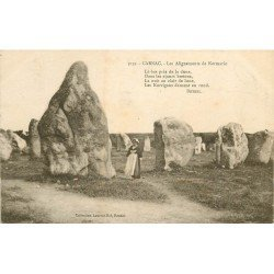 56 CARNAC. Les Alignements de Kermario 1924. Dolmens et Menhirs
