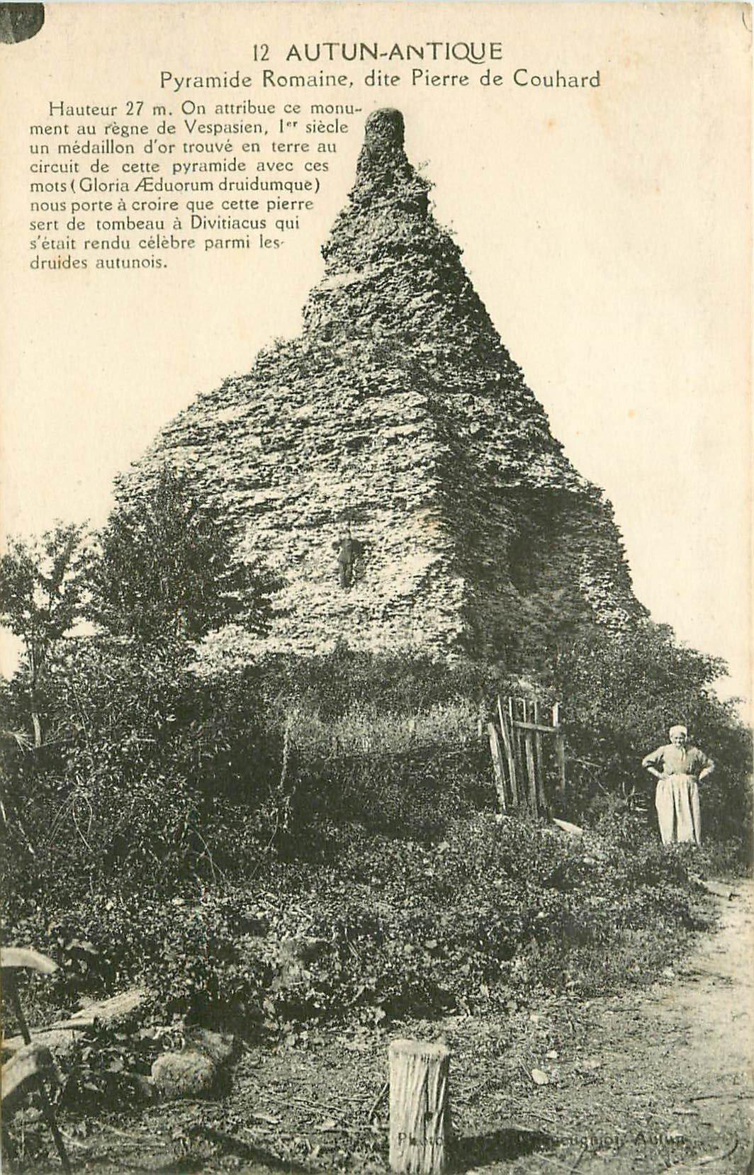 DOLMENS et MENHIRS et PIERRES. 71 Autun Antique. Pyramide Romaine dite Pierre de Couhard