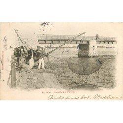 17 ROYAN. La Pêche à la Crevette au Carrelet 1904. Métiers de la Mer