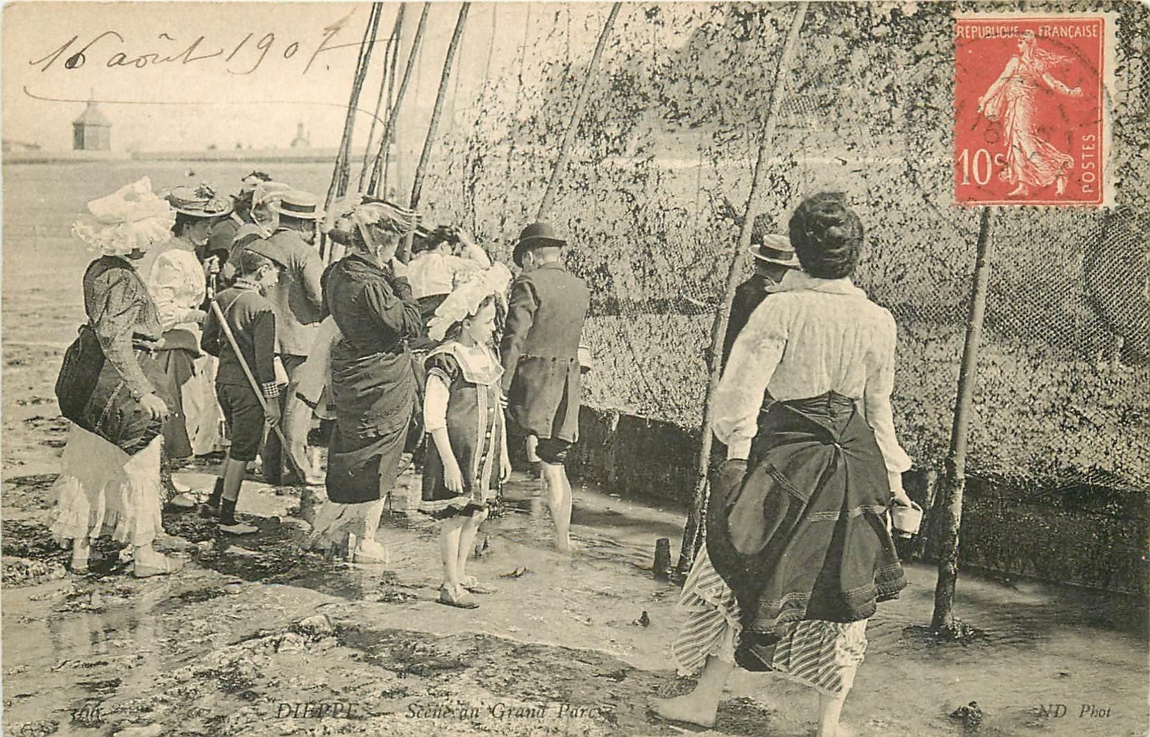 76 DIEPPE. Scène au Grand Parc de Poissons et Crustacés 1907