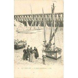 76 LE TREPORT. L'Arrivée du Poisson 1904. Pêcheurs et Métiers de la Mer