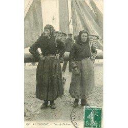 76 LE TREPORT. Types de Pêcheuses. Poissons et Crustacés Métiers de la Mer 1909