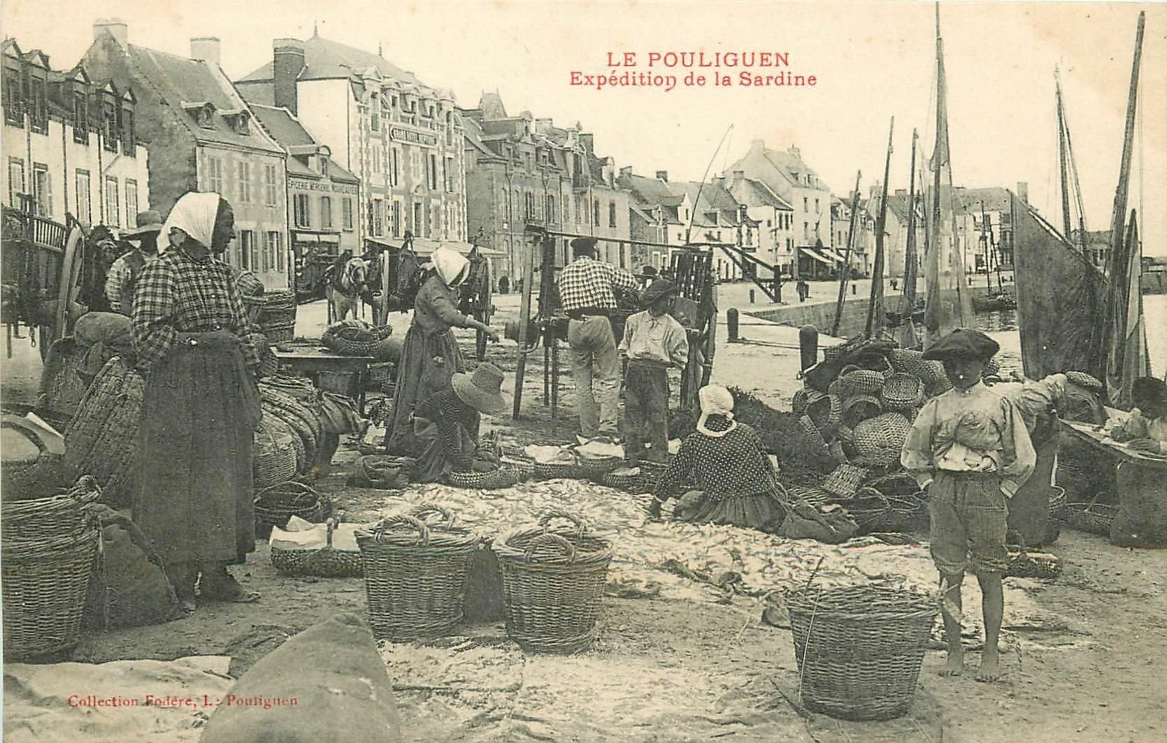 44 LE POULIGUEN. Expédition de la Sardine. Poissons et Métiers de la Mer