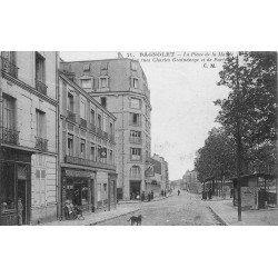 93 BAGNOLET. Place de la Mairie Rues Graindorge et de Paris 1924 Café devenu Le Bal Perdu