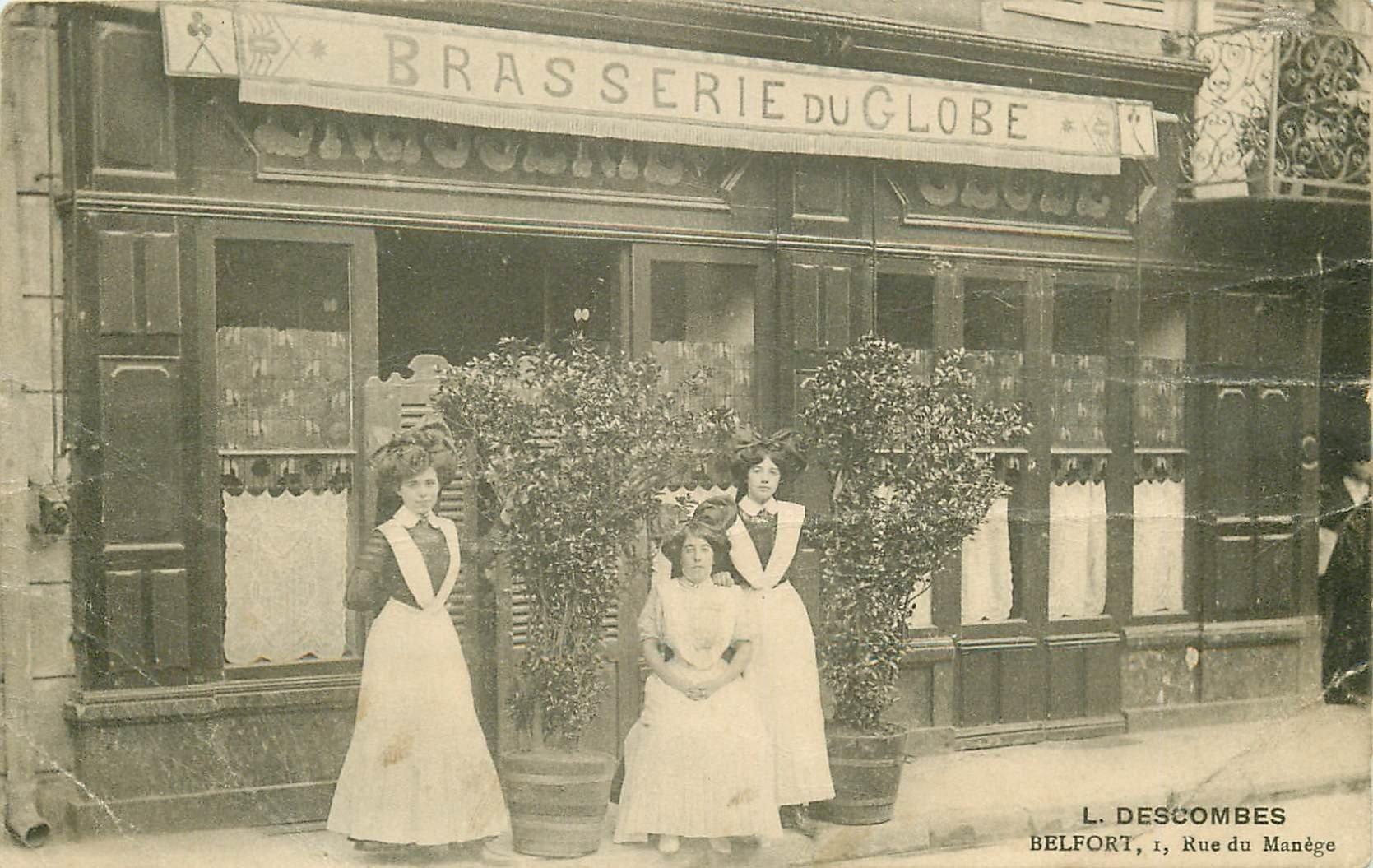 90 BELFORT. La Brasserie du Globe par Descombes 1 Rue du Manège ( défaut )