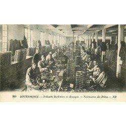 29 DOUARNENEZ. Industrie Sardinière Fabrication des boïtes. Usine et Ouvriers