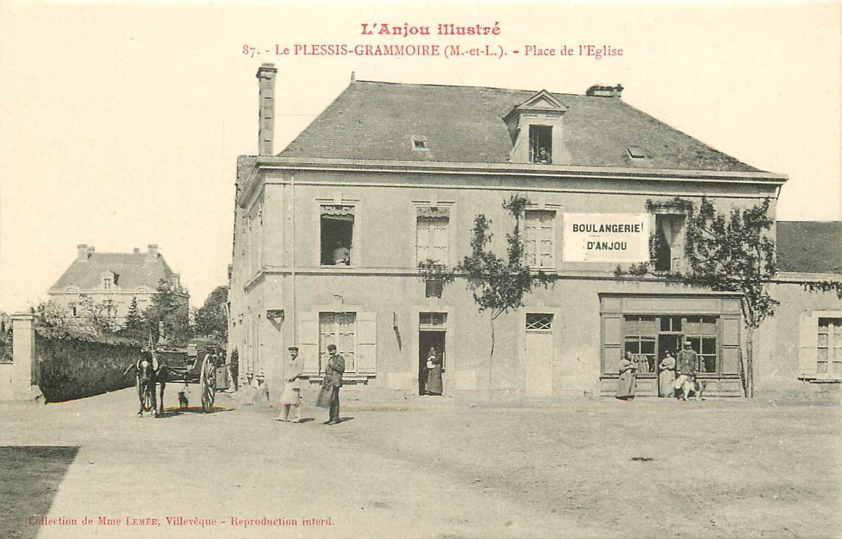 49 LE PLESSIS GRAMMOIRE. Attelage et Boulangerie d'Anjou Place de l'Eglise