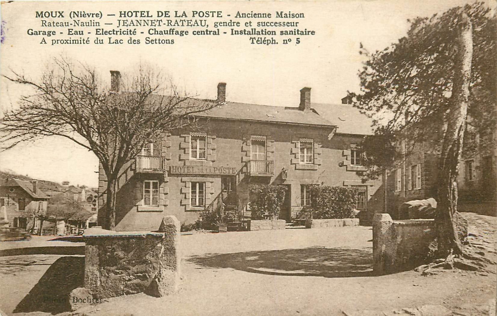58 MOUX. Hôtel de la Poste