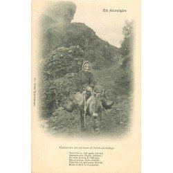 Folklores et Légendes. Une Centenaire sur Mulet vers Salers