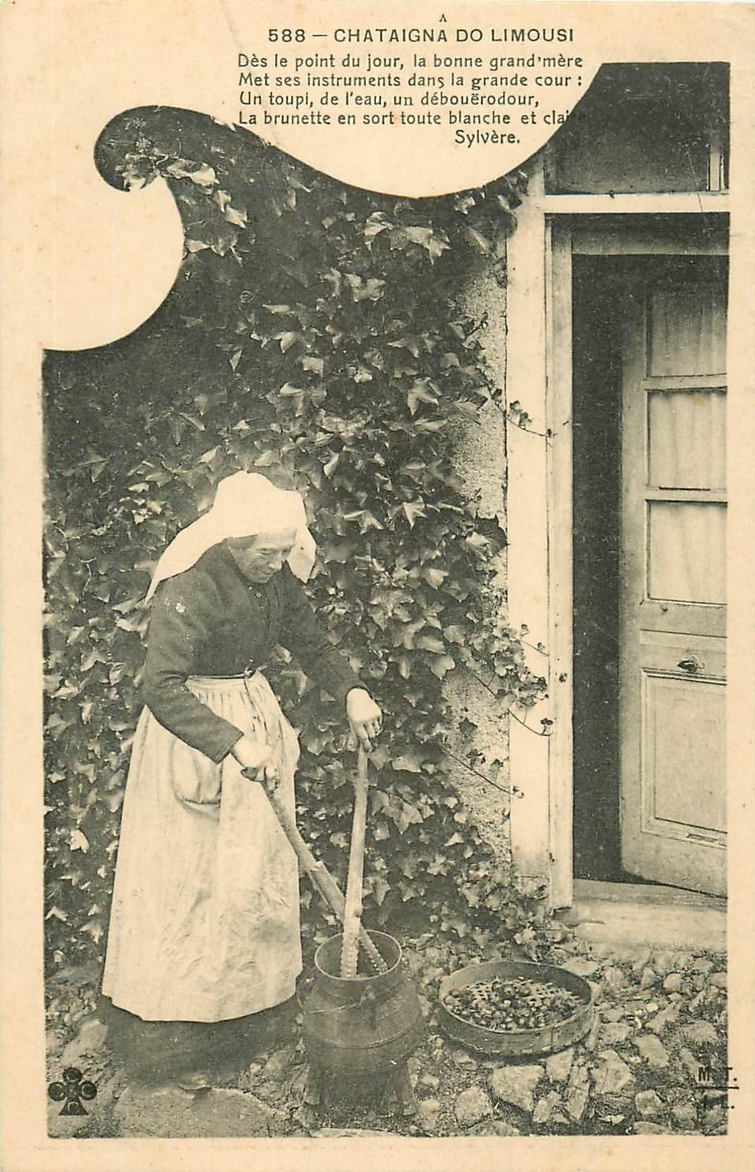 Folklores et Légendes. La cuisson des Chataîgnes au Pays Limousin