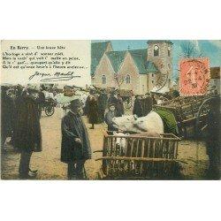 Folklores et Légendes. En Berry. Vache Boeuf et Veau 1931 par Martel un brave bête