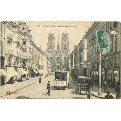 45 ORLEANS. Tramway et Attelage rue Jeanne d'Arc 1913