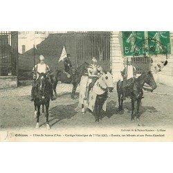 45 ORLEANS. Fêtes Jeanne d'Arc. Le Cortège Dunois ses héraults et son Porte Etendart 1913