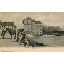 89 BRIENON. Le Moulin et le Pertuis avec Cheval de trait