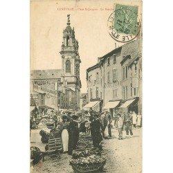 54 LUNEVILLE. Le Marché Place Saint Jacques 1921