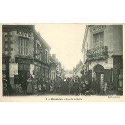 """41 BRACIEUX. Rue de la Halle Tabac Rayé et Magasin """" Au Coin de la Rue """""""